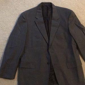 Like New Men's 42R Charcoal 100% Wool Blazer
